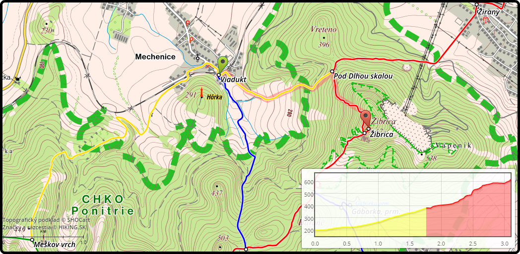 mapa-vystupu-na-zibricu-tribec