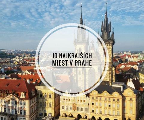 10 najkrajších miest v Prahe
