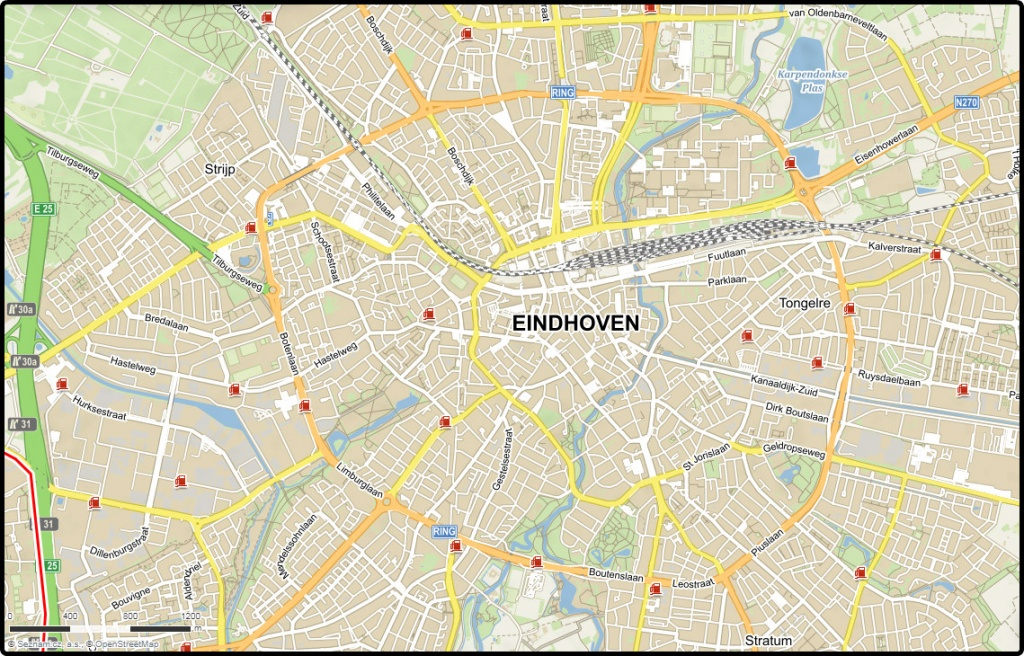 mapa-centra-eindhovenu