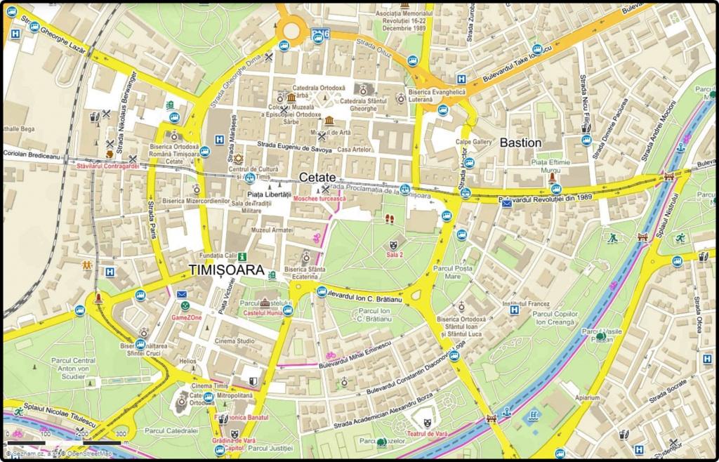 temesvar-mapa-centra-mesta