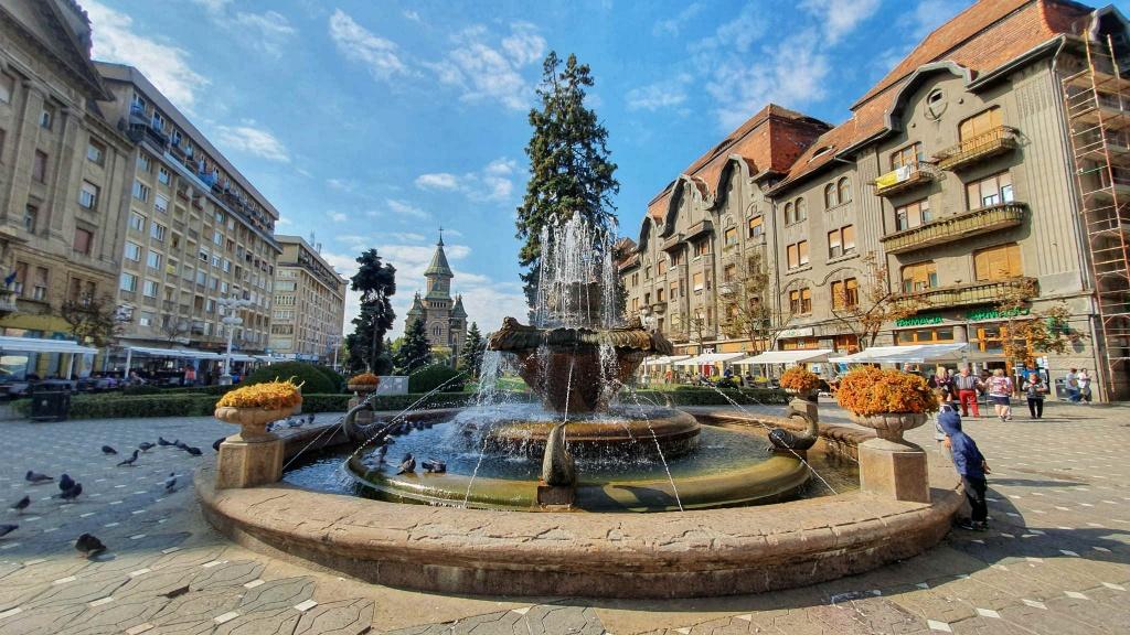 temesvar-rybia-fontana-a-socha-vlka