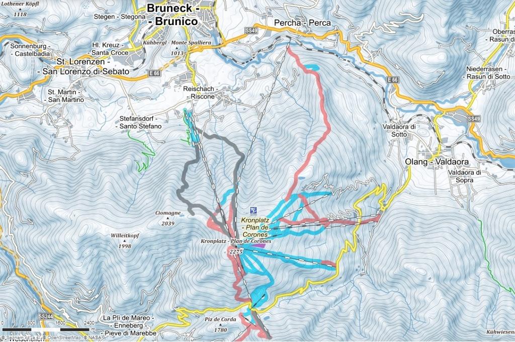 mapa-lyziarskeho-strediska-kronplatz-taliansko