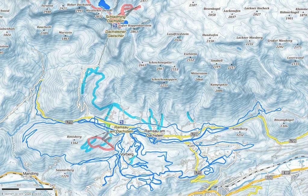 mapa-lyziarskeho-strediska-dachstein