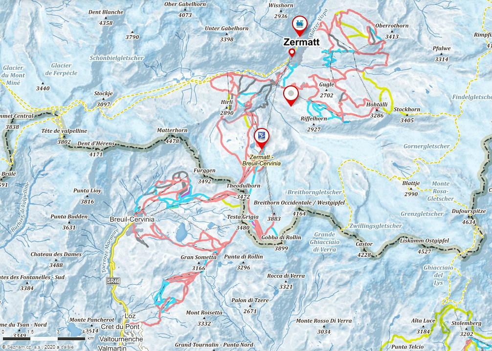 mapa-lyziarskeho-strediska-zermatt-svajciarsko