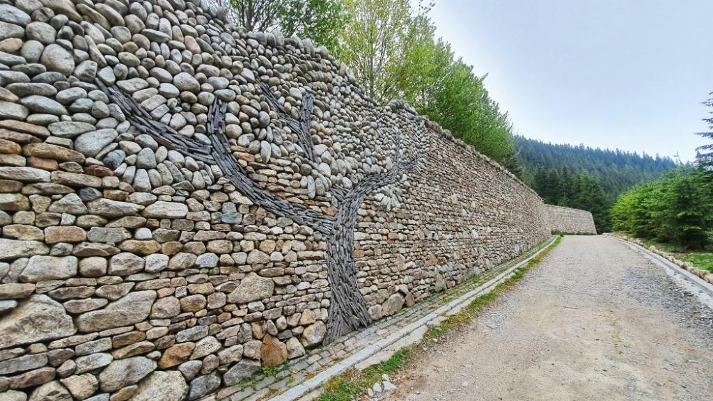 oporny-mur-so-zobrazenym-stromom